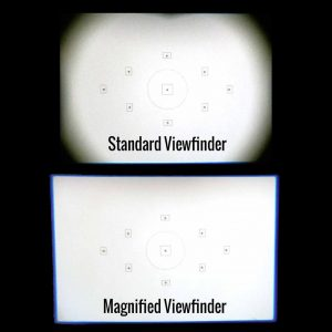 Effect viewfinder magnifying glass